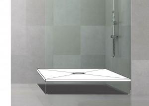 befliesbares Duschelement, auch Duschboard genannt, dient als stabile Untergrundkosntruktion für begehbare Duschen