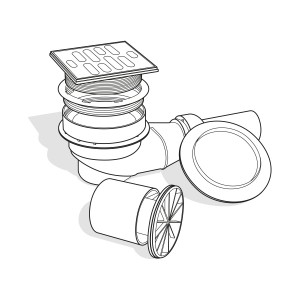 Waagerechter-Einbau-duschelement